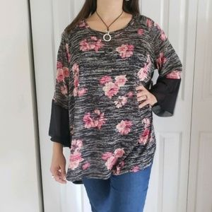 New French Laundry plus Size 3X Floral top
